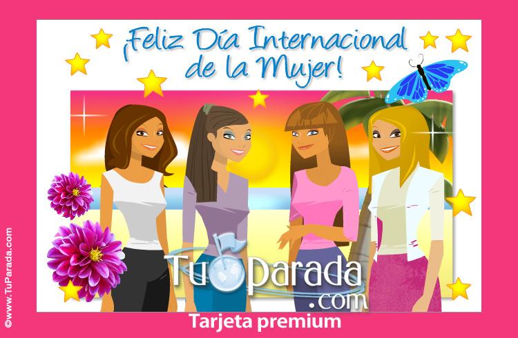 Tarjeta - Tarjeta de Feliz Día de la Mujer
