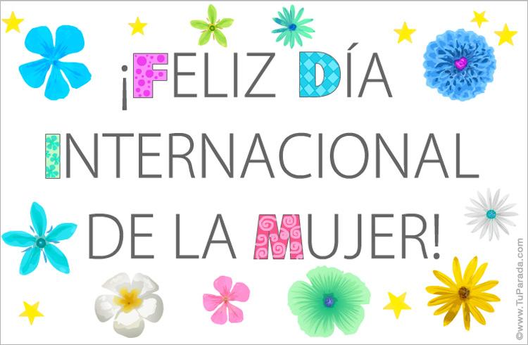 Tarjeta gratis del día internacional de la mujer - Postales del día de la  mujer