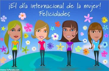 Tarjeta del día de la mujer internacional