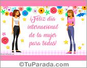 Tarjetas postales: Feliz día de la mujer para todas