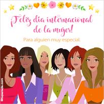 Tarjetas postales: Tarjeta Feliz día de la mujer