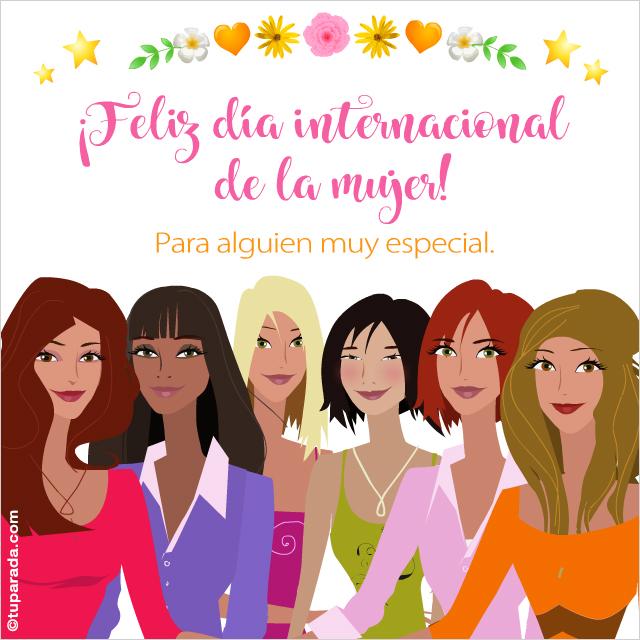 Tarjeta - Tarjeta Feliz día de la mujer