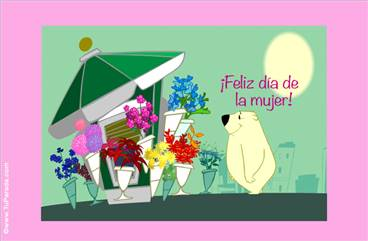 Flores en el día de la mujer.