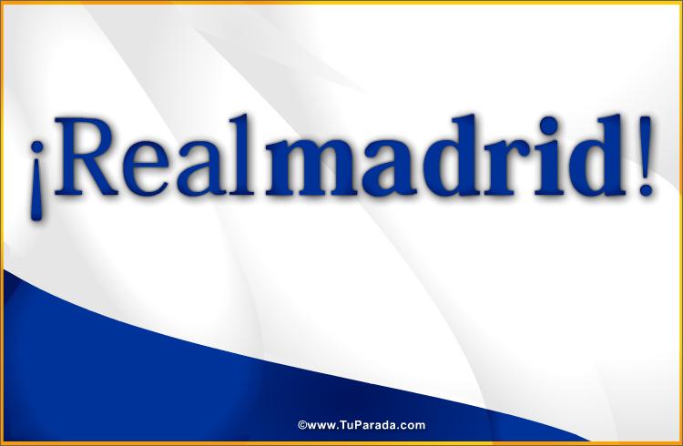 Tarjeta - Tarjeta del Real Madrid