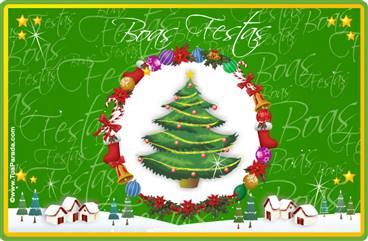 Cartão de Natal tradicional