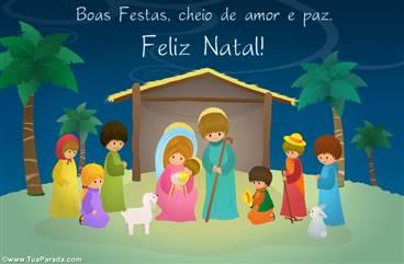 Cartão de Natal Presépio