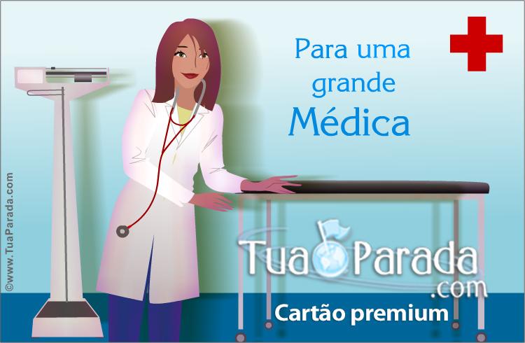 Cartão - Cartão para uma grande médica
