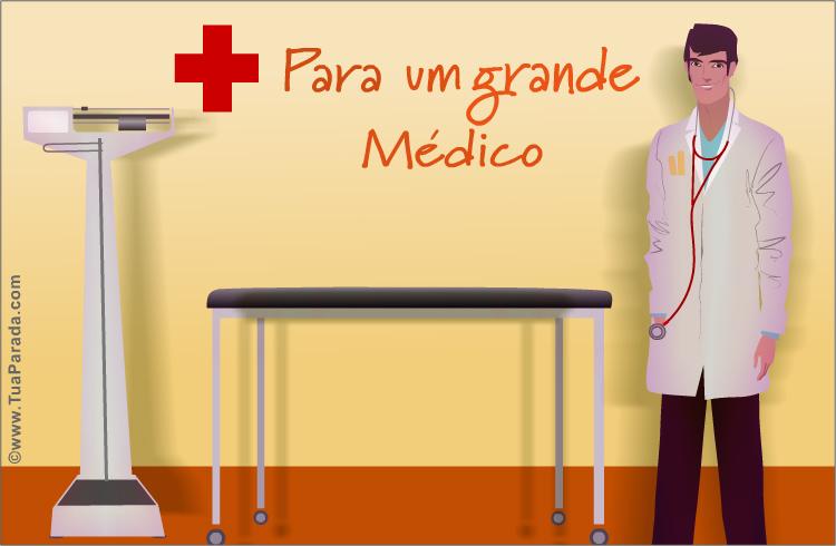 Cartão - Cartão para um grande médico
