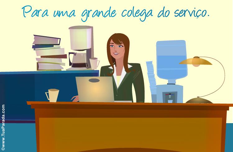Cartão - Para uma colega do serviço