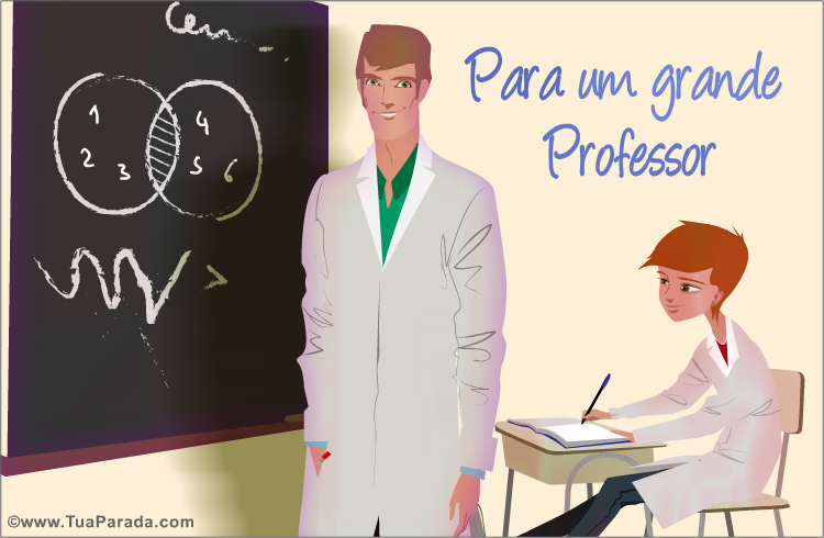 Cartão - Para um grande professor