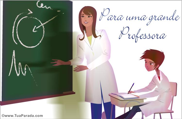 Cartão - Para uma grande professora