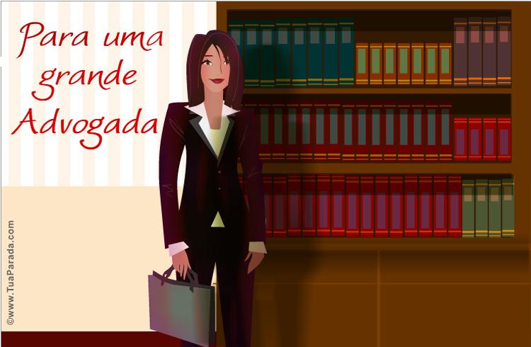 Cartão - Para uma advogada