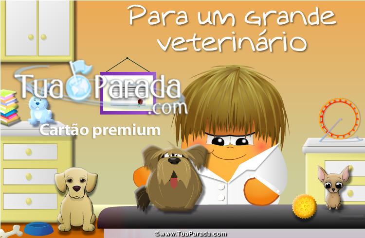 Cartão - Para um veterinário