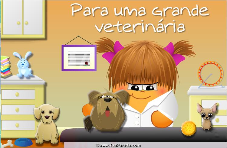 Cartão - Para uma veterinária
