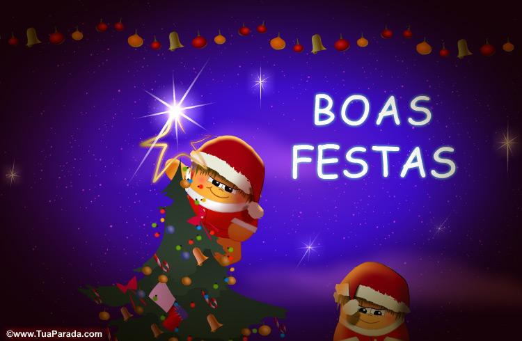 Cartão - Boas festas, bons desejos