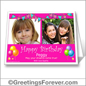 Birthday printable card with photos - For desktop
