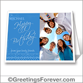 Photo birthday card to print - For desktop