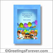 Birthday party printable card - For all devices