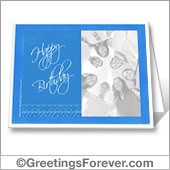 Photo birthday card to print - For all devices