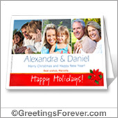 Christmas photo printable card - For desktop