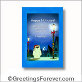 Happy Holidays printable card - For all devices