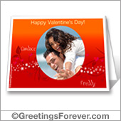Valentine printable card - For desktop