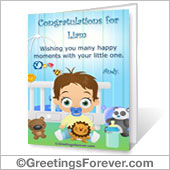 Baby boy printable card