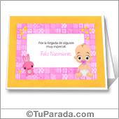 Feliz nacimiento en rosa