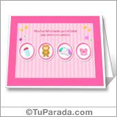 Tarjeta de Baby Shower para niñas