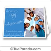 Cartão imprimível de aniversário com fotos