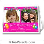 Cartão para imprimir com fotos