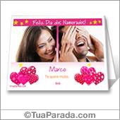 Cartão de São Valentim para imprimir