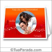 Cartão para imprimir de São Valentim