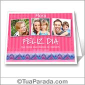 Cartão imprimível com fotos