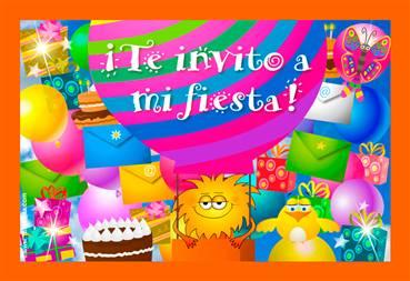 Tarjeta de Invitaciones a fiestas