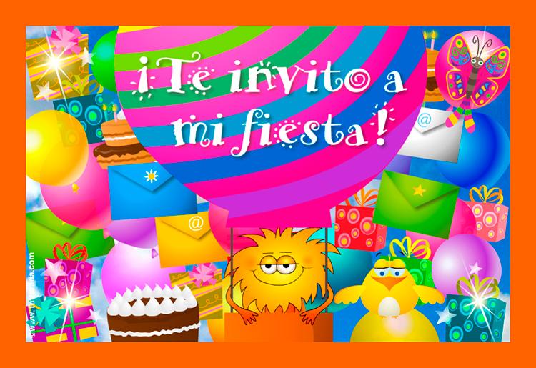 Tarjeta - Invitación a fiesta