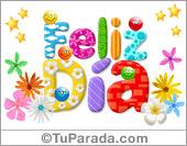 Tarjeta de feliz día multicolor