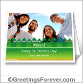 St. Patrick's day printable card