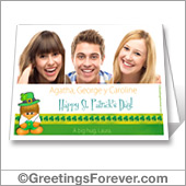 St. Patrick's day card to print