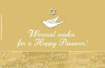 Tarjeta de Passover