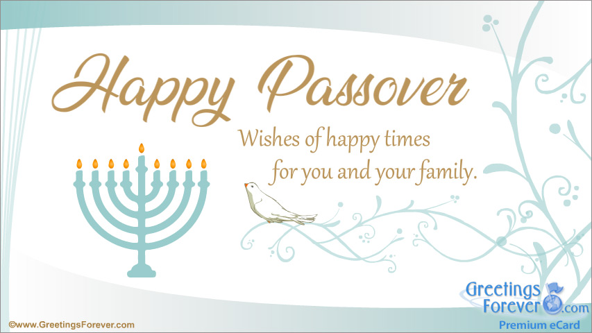 Ecard - Happy Passover wishes