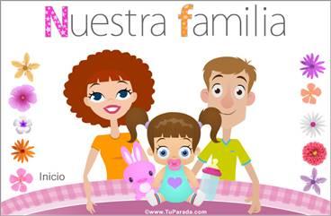 Familia con niña