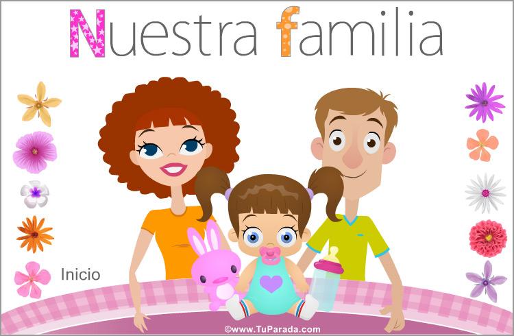 Tarjeta - Familia con niña
