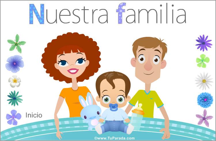 Tarjeta - Familia con niño