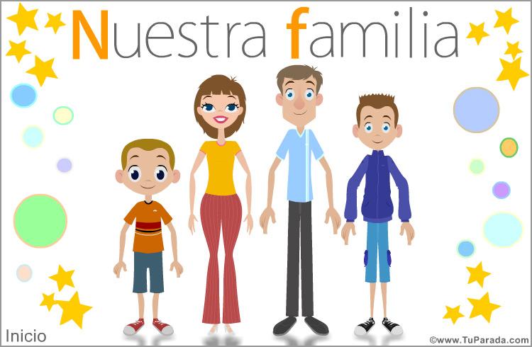 Familia Con Dos Hijos Varones Felicitaciones Originales Tarjetas