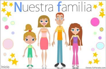 Nuestra familia con dos hijas mujeres