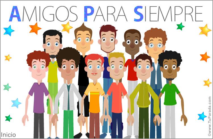 Grupo De Amigos O Compañeros Felicitaciones Originales Tarjetas