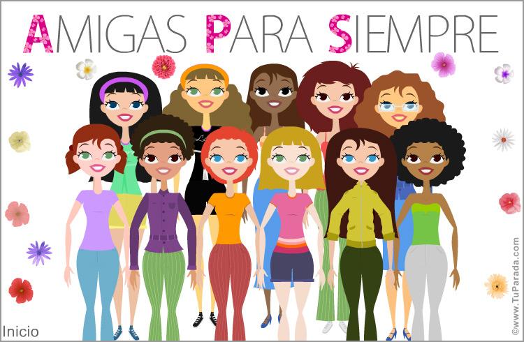 Grupo De Amigas O Compañeras Felicitaciones Originales Tarjetas