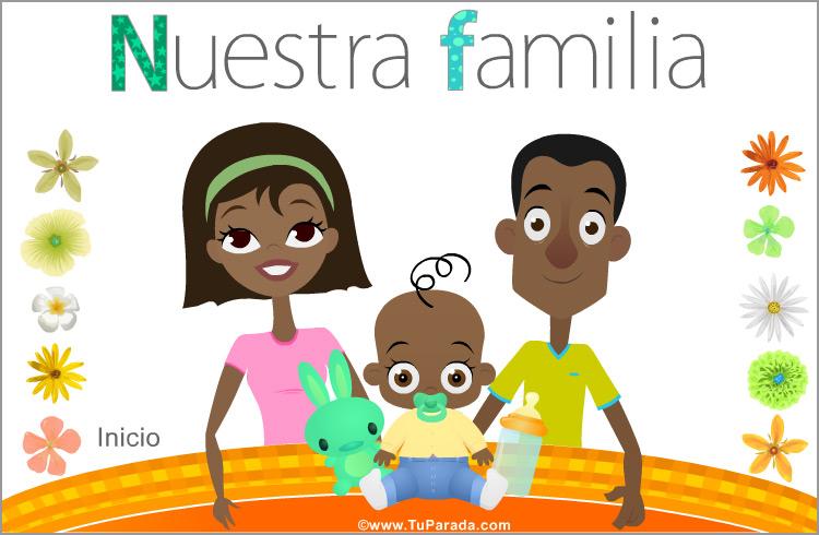 Tarjeta - Familia con bebé