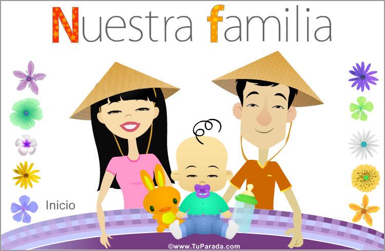 Tarjeta - Nuestra familia con bebé